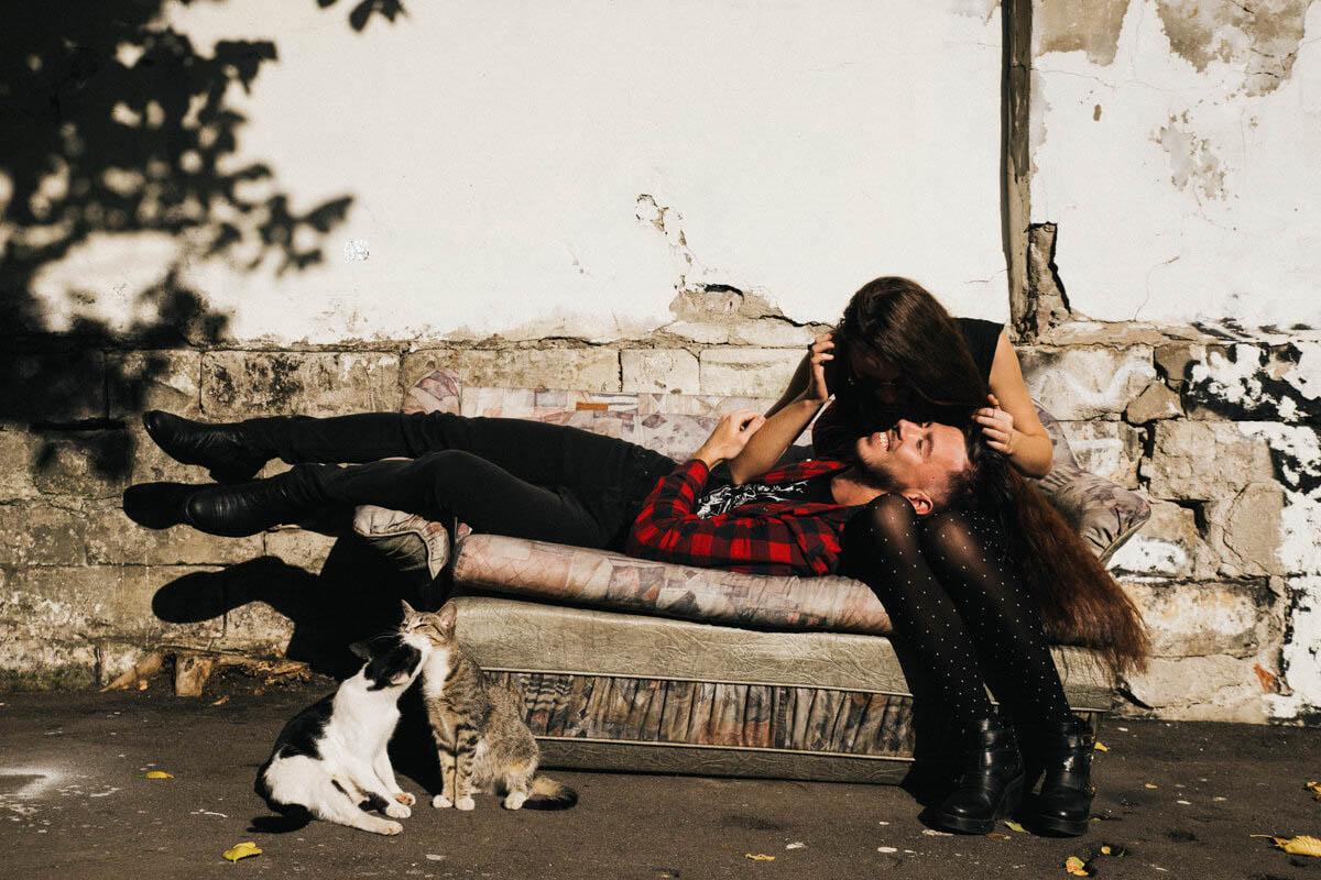 Андрей, Мария и гитара - Фотограф Виктория Куприна